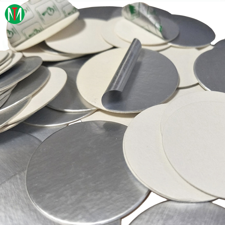 Chemical HDPE bottle embossing aluminum foil induction seal liner /wad/gasket