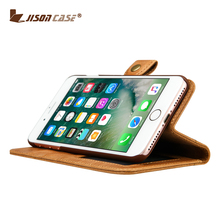 Jisoncase Wholesale luxury cell phone accessories leather phone case wallet design for iPhone 7/8