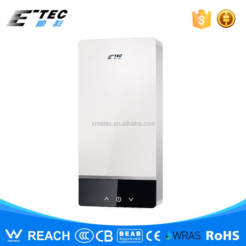 OEM hot touch screen tankless electric water heater for bath