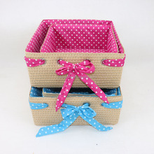 Natural large straw storage baskets toys storage trays