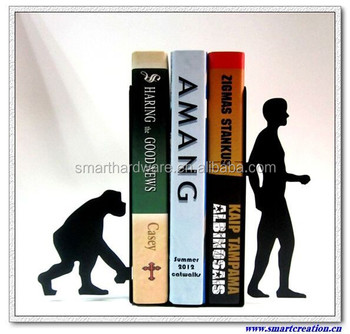 Evolution metal art bookends book holder