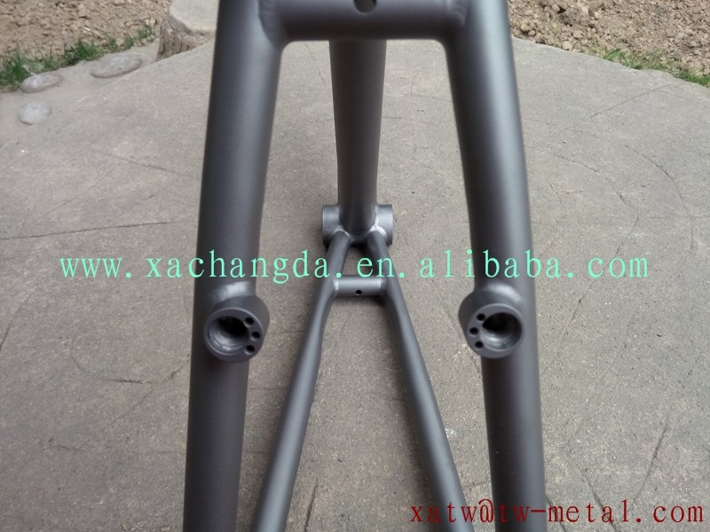 titanium mtb bike frame Integrated rack and fender customize bike frame