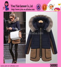 Dark Blue Fur Women's Coat Brand Name Winter Women's Coat