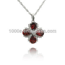 New arrival red agate silver pendant