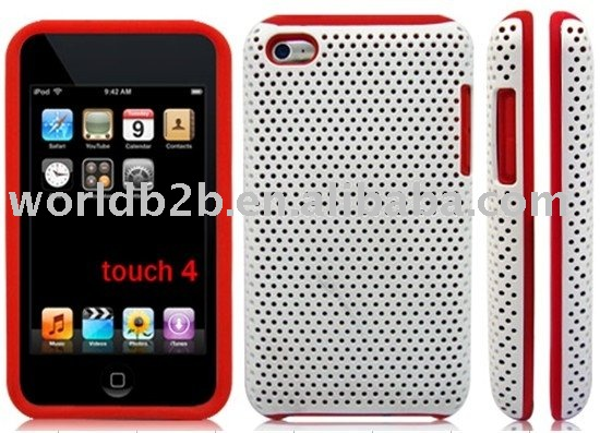 crystal mesh case+ silicon for itouch 4