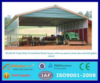 outdoor wind resistant movable metal mobile carport canopy for cars