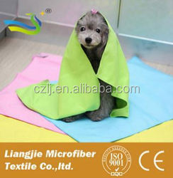 sublimation printing 500 GSM pet products/dog bath towel/massage glove China