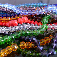Wholesales china crystal rondelle faceted glass beads 8mm/10mm/12mm/14mm.