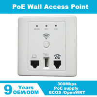Wall wifi ap 300Mbps network wireless-n wifi repeater with WPS Wall Mount external wireless access point
