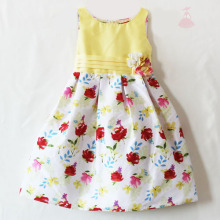 Children Boutique Clothing Girls Baby girl party dress yellow