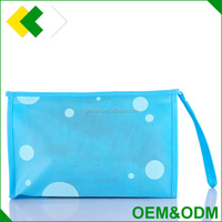 Wholesale customized beauty printed zipper pouch makeup bag packing background blank plain travel pvc cosmetic bag
