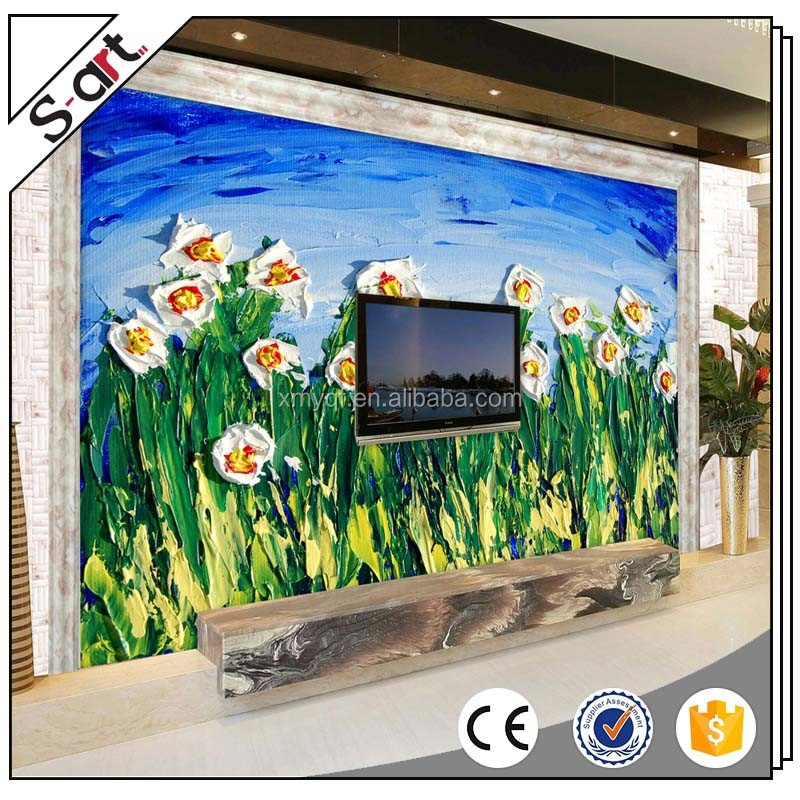 3d flower oil painting for living room home hotel cafe modern Wall art Decoration