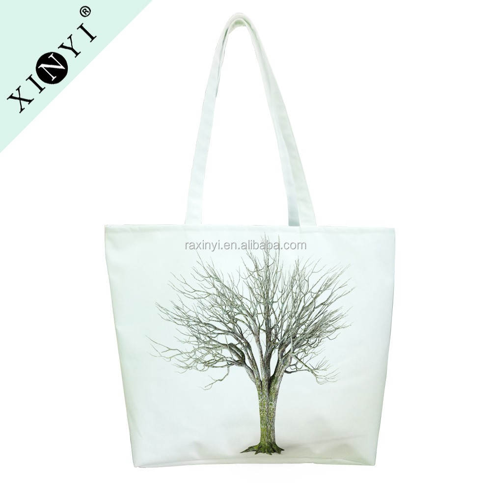 Factory price women portable cotton canvas custom print tote bag wholesale reusable shopping bags