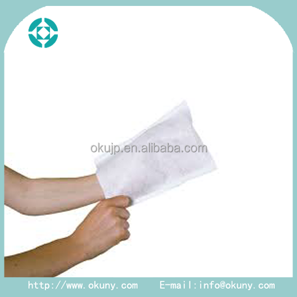 Needle-punched non-woven jacquard weave dust wiping non-woven gloves