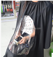 Cheap price hair cutting barber cape with window supply from factory