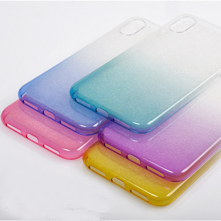 2017 New Fit For iPhone Edition Ultra Thin TPU Gradient Clear Colors Phone Cases Cover For iPhone 8 Case