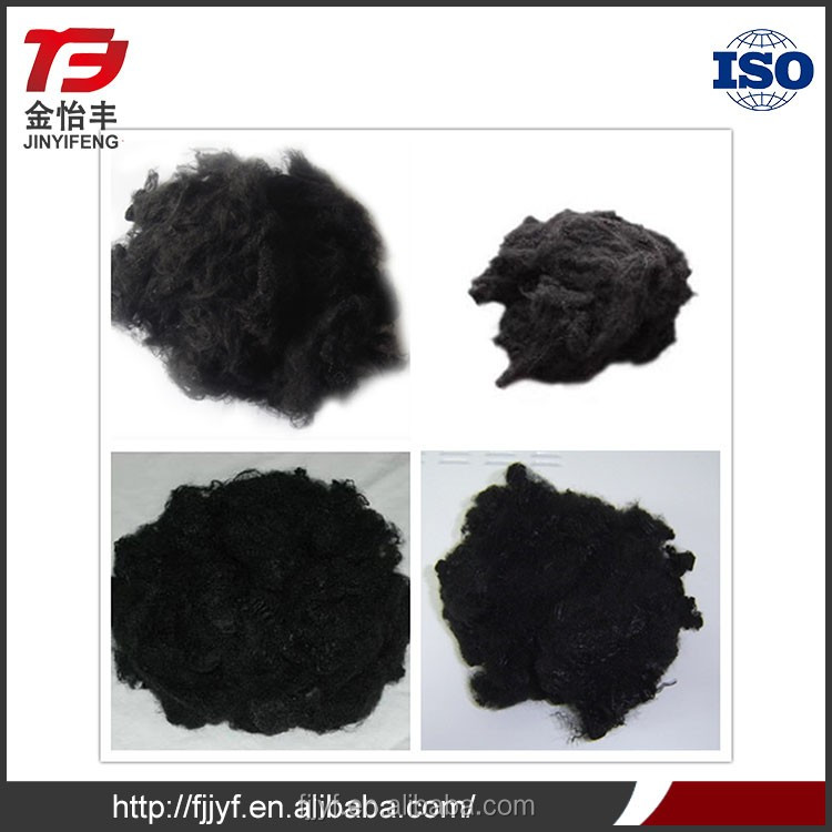 Polyester fiber core material non-woven fabric use black dope dyed flame retardant yarn with high quality