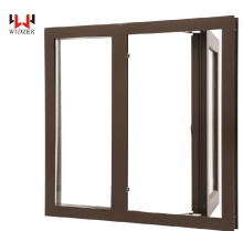 Chinses manufacturer US style Thermal break aluminum windows standard size double glazed windows for villa