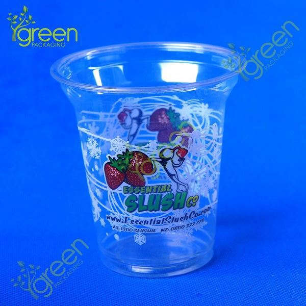 plastic cup with straw / nut packaging cup / plastic dessert containers Green cup