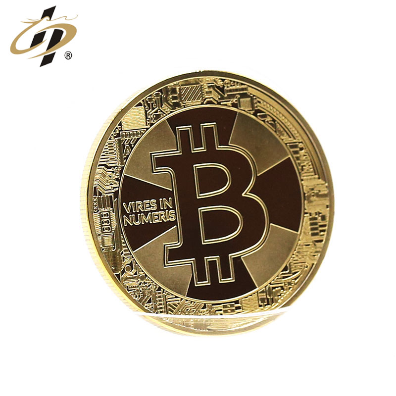 Fashion trend Promotional stamping gold silver brass bitcoin style gold make your own metal coins