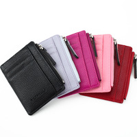 Wholesale new style fashion short zipper Unisex purse coin leather wallet