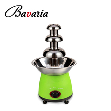 Mini Size Stainless steel electric 3 tiers chocolate fountain machine
