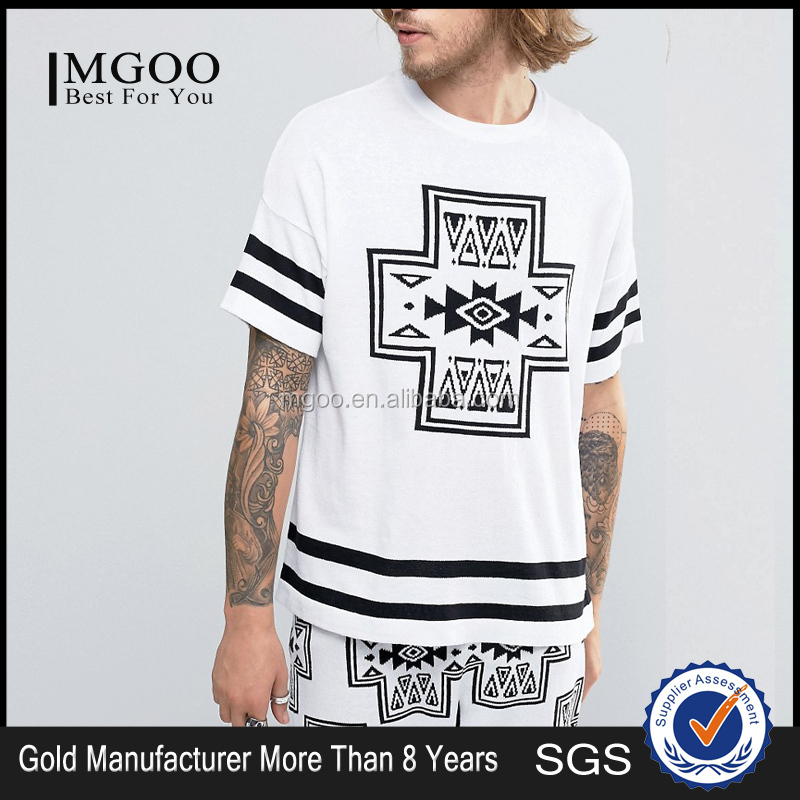 Sublimation Custom Logo Fashion Leisure Suit 100% Cotton Comfortable And Soft T Shirts For Mens