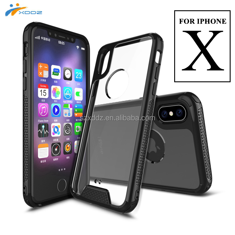 XDDZ New Arrive Football Pattern Anti-Skid Shockproof Armor Case TPU PC Phone Case for iPhone X