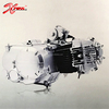Chinese Cheap 50cc/70cc/90cc/100cc/110cc Motorcycle Engine Motor Electric/Kick start Automatic Clutch 4 gears