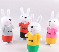 plastic PVC animal rabbit money coin bank