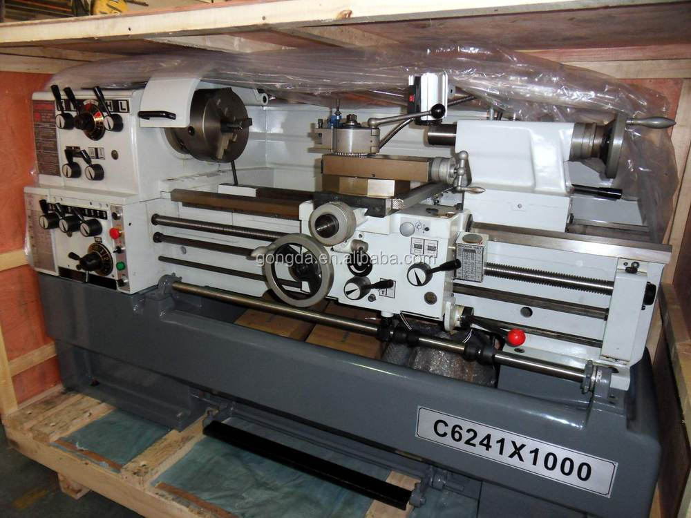 Precision universal Gap-bed lathe bench lathe machine C6241*1000mm with CE approved