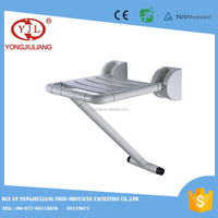 Stainless steel Wall mount folding shower seat