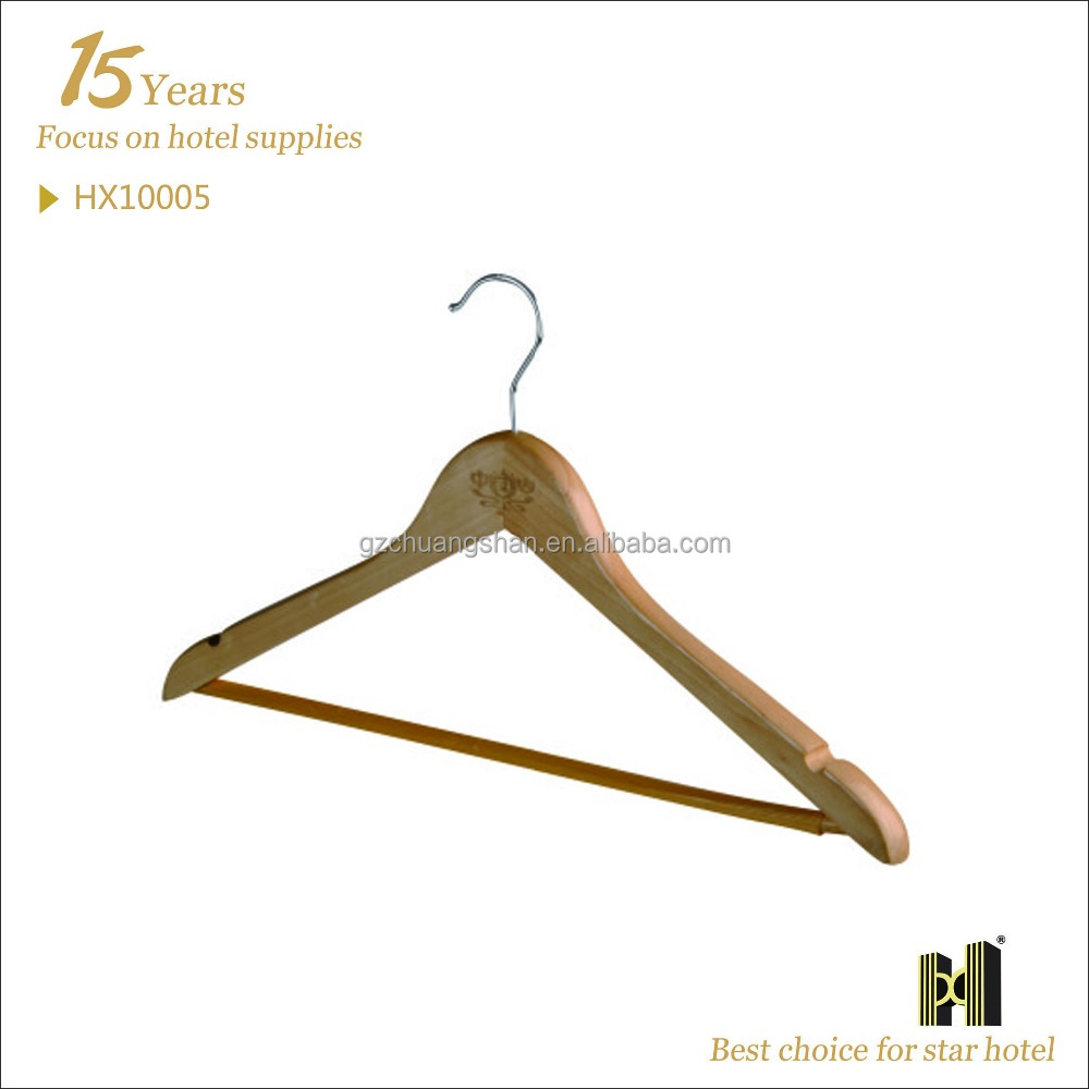 Use in Hotel Room wooden cloth hanger