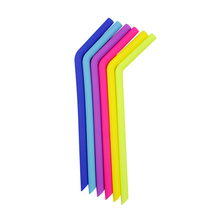 Stainless Steel Straw with cleaning brush,Bent Silicone Straws