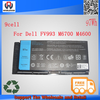 100% new original Laptop Battery for Dell Precision M4600 M6600 M4800 M6700 M6800 FV993 T3NT1 PG6RC R7PND 9cell Free shipping