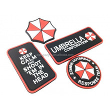 Resident Evil red umbrella cooperation pvc airsoft velcro patch