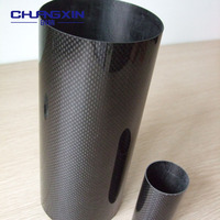 Hot sale large diameter 3K carbon fiber tube