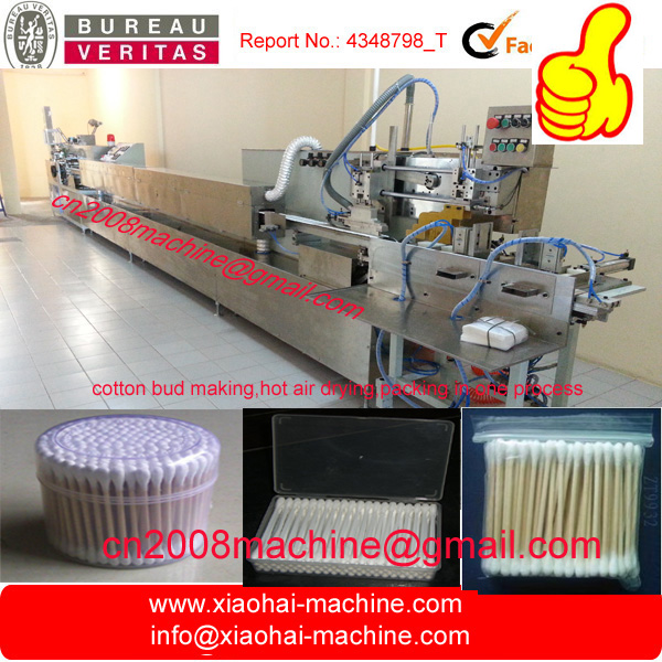 Automatic Cotton BUD Making Machine with Drying and packing