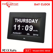 (DDC-8010) free desktop Digital calendar with big screen electronic day and date calendar