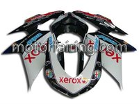 brand new motorcycle fairings for 848 bodykits/bodywork 1098/1198/848 come with decals white/black