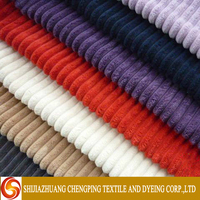 New Style Woven techniques 100% Cotton Dyed Corduroy Fabric Manufacture In China