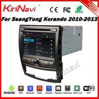 Kirinavi WC-SY7067 android 5.1 4 core car radio dvd for ssangyong korando 2010-2013 car gps navigation touch screen dvd player