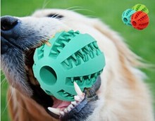 Wholesale 70mm Durable Rubber ball with teeth dog toy , OEM pet products Manufactory