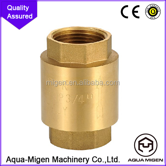 Received the high rate of vertical point of view of the brass check valve