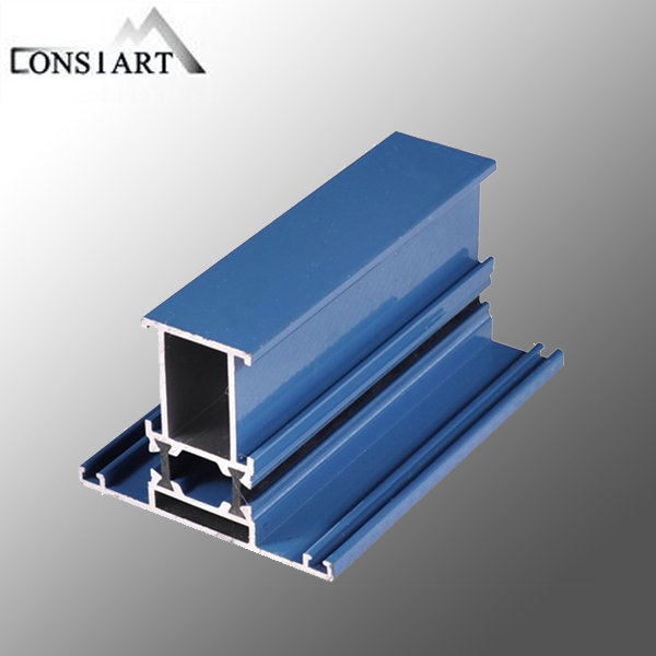 Constmart anodized led strip light aluminum profile bifold closet doors
