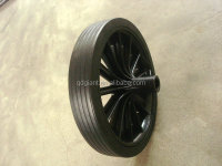 Rubber solid 12 inch wheel for dustbin