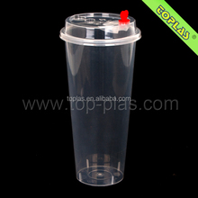 Plastic Jucie Drinking Cup 700ml Thin Wall Injection Molding Milk Shake Cups
