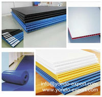 4mm 5mm 12mm New products for 2013 fancy color pp corrugated plastic sheet
