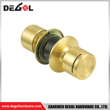 Satin Brass Copper privacy cylindrical key card door lock