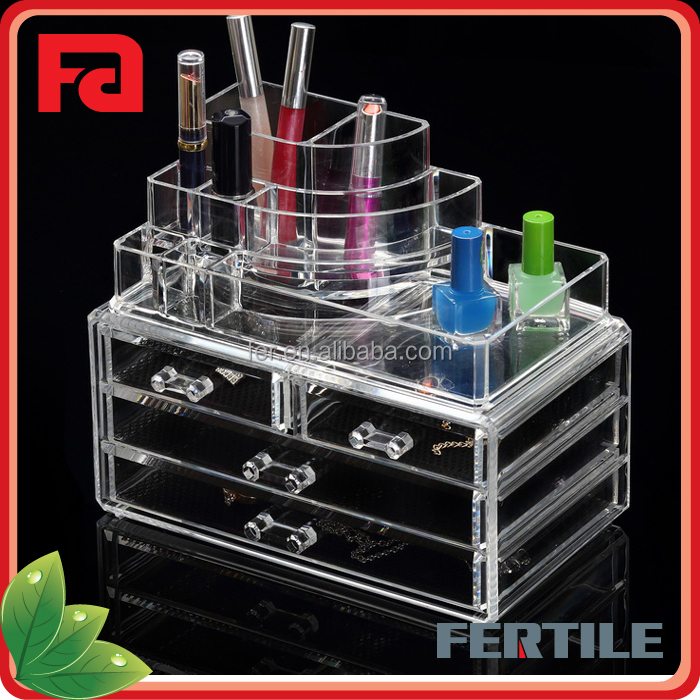 YQ New design transparent popular acrylic cosmetic organizer